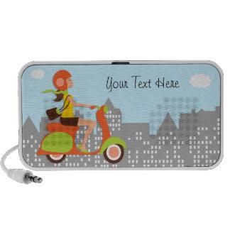 Moped bonito nos mini auto-falante da cidade caixinhas de som para mp3
