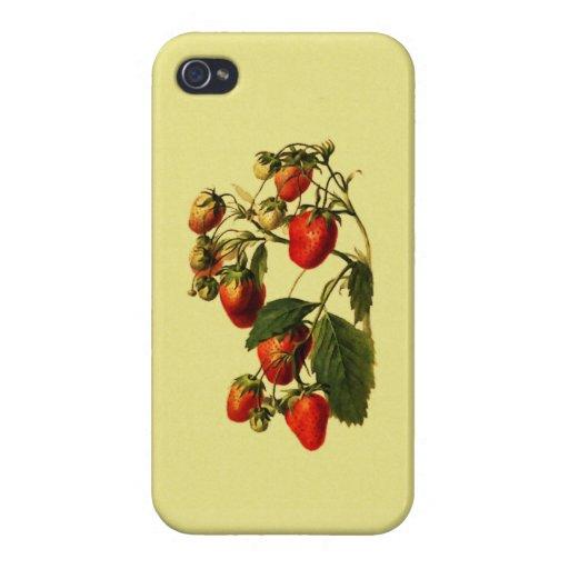 Morangos retros capas iPhone 4