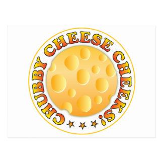 Mordentes carnudos do queijo cartoes postais