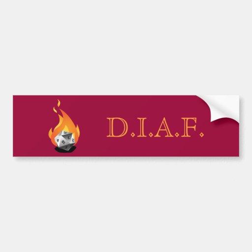 Morra em um fogo (D.I.A.F) Adesivos