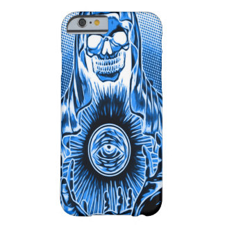 Morte azul retro do crânio de Skully Capa Barely There Para iPhone 6