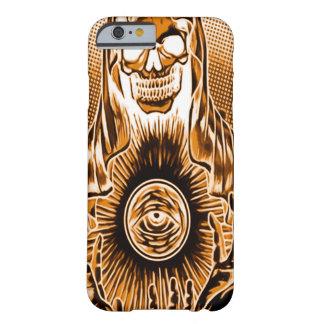 Morte de cobre retro do crânio de Skully Capa Barely There Para iPhone 6