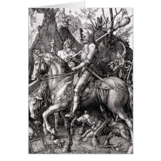 Morte do cavaleiro de Durer e o cartão do diabo