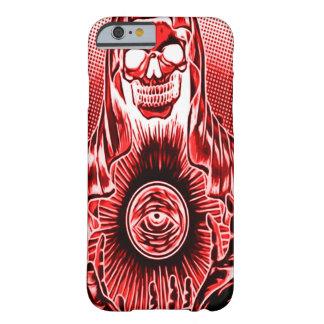 Morte vermelha retro do crânio de Skully Capa Barely There Para iPhone 6