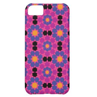Mosaico cor-de-rosa roxo capa para iPhone 5C
