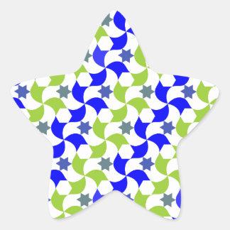 Mosaico de moinhos à vento e estrelas