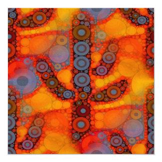 Mosaico do sudoeste roxo alaranjado do cacto do convite quadrado 13.35 x 13.35cm