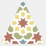 Mosaico geométrico de arabescos de Marruecos. Adesivo Triangular
