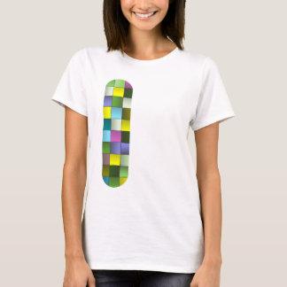 Mosaico moderno teste padrão tecido t-shirt