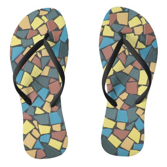 mosaico Não-figurativo Chinelos