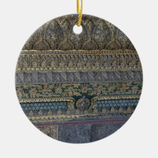 Mosaico real ornamento de cerâmica redondo