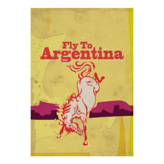 Mosca ao poster das viagens vintage de Argentina