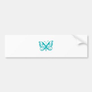 Mosca da borboleta de turquesa, lagarta, teste adesivo para carro