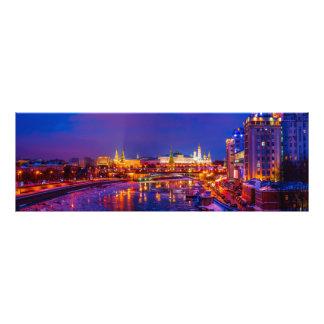 Moscovo Kremlin iluminado Impressão De Foto