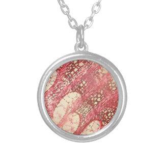 Mosiac celular abstrato colar com pendente redondo