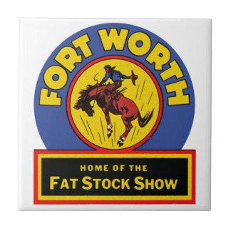 Mostra conservada em estoque gorda de Fort Worth Azulejo De Cerâmica