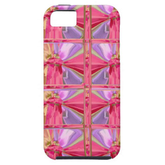 Mostra feliz do sorriso elegante do rosa capa tough para iPhone 5