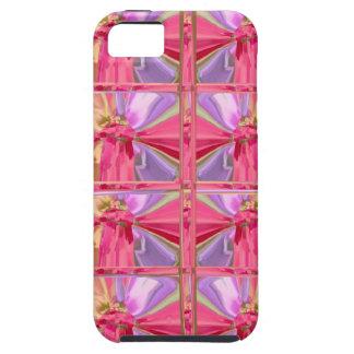 Mostra feliz do sorriso elegante do rosa capa tough para iPhone 5