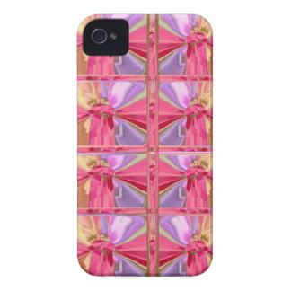 Mostra feliz do sorriso elegante do rosa cor-de-ro capa iPhone 4