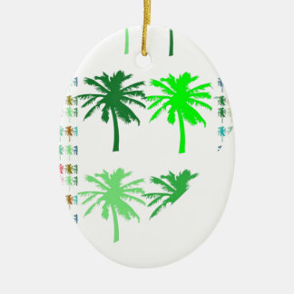 MOSTRA VERDE: LOTES das árvores de presentes Ornamento De Cerâmica Oval