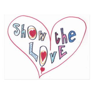 Mostre o amor cartão postal