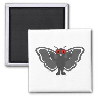 Mothman bonito ímã quadrado
