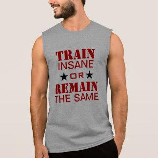 Motivação do exercício camisas sem mangas