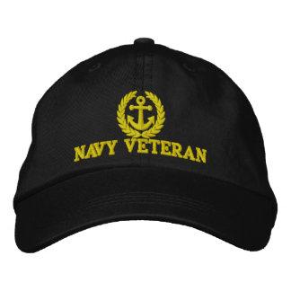 Motivo da âncora dos marinheiros do veterano do boné