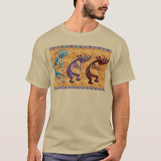 Motivo do nativo americano de Kokopelli 3D Anasazi Camiseta