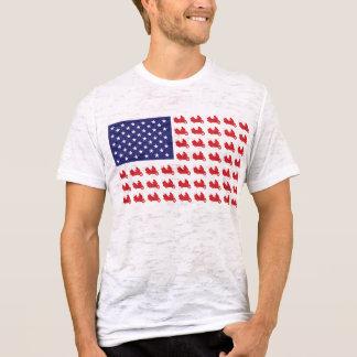 Motocicleta patriótica de Goldwing Camiseta