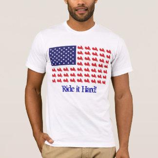 Motocicleta patriótica de Goldwing Camisetas