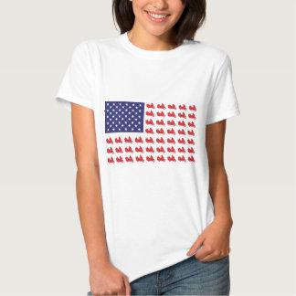 Motocicleta patriótica de Goldwing T-shirt