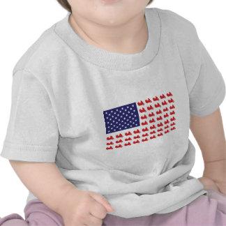 Motocicleta patriótica de Goldwing T-shirts