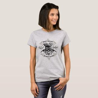 Motociclista do coração do ferro t-shirt