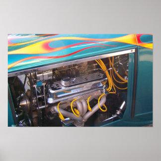 Motor da pulsação do coração do carro do músculo d poster