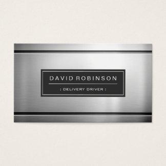 Motorista da entrega - metal de prata superior cartão de visita