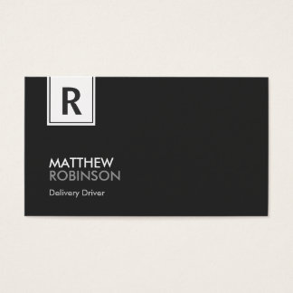 Motorista da entrega - monograma elegante moderno cartão de visita
