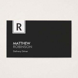 Motorista da entrega - monograma elegante moderno cartão de visitas