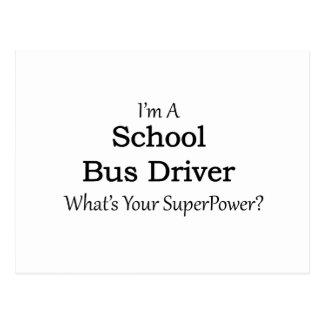 Motorista de auto escolar cartão postal