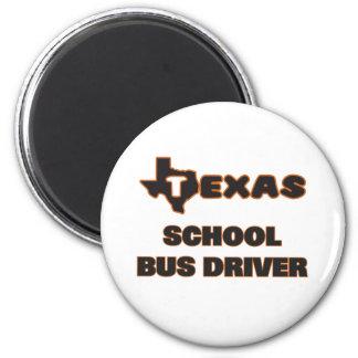 Motorista de auto escolar de Texas Ímã Redondo 5.08cm