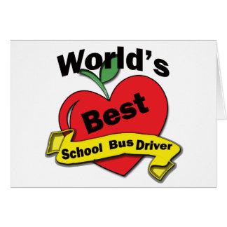 Motorista de auto escolar do mundo o melhor cartoes