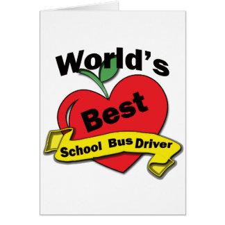 Motorista de auto escolar do mundo o melhor cartão comemorativo
