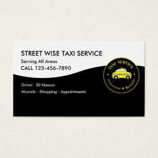Motorista de táxi do táxi cartão de visitas