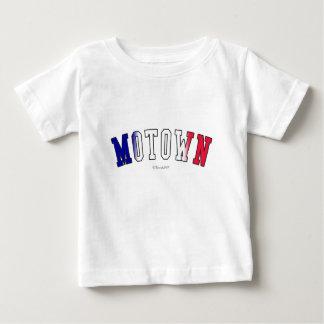 Motown em cores da bandeira do estado do Michigan Camiseta Para Bebê