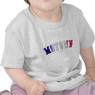 Motown em cores da bandeira do estado do Michigan T-shirt