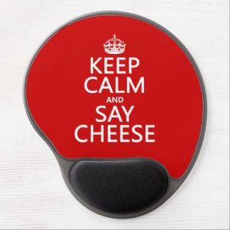 Mouse Pad De Gel Mantenha calmo e diga o queijo (fotografia)