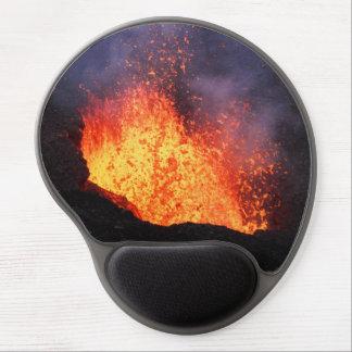 Mouse Pad De Gel Paisagem vulcânica: lava quente que entra em