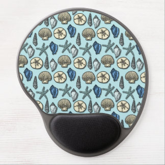 Mouse Pad De Gel Teste padrão azul bonito do mar da estrela do mar