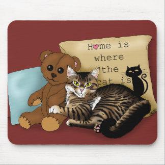 Mousepad A casa é o lugar onde o gato está…