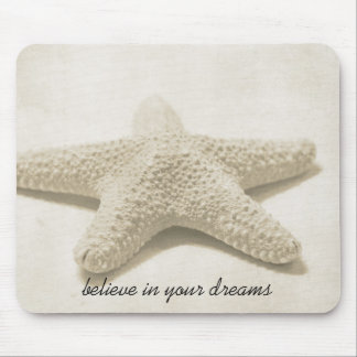 Mousepad A estrela do mar acredita